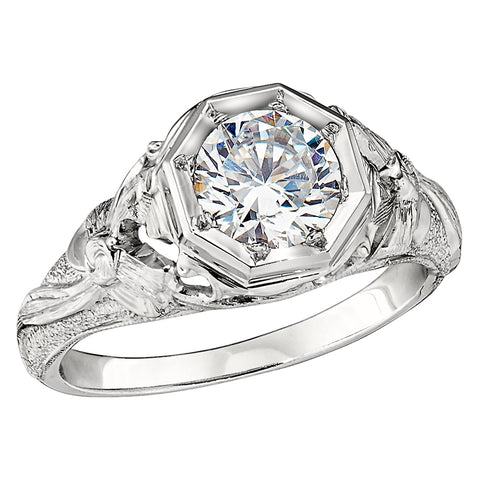 Vintage Style Solitaire Engagement Rings - Antique Style Setting