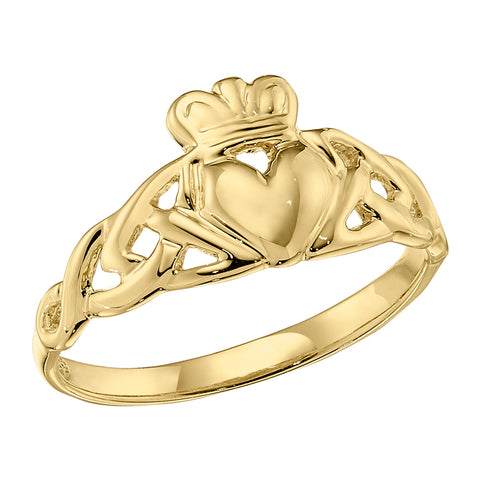 Claddagh Ring, Plain Claddagh, Celtic Jewelry