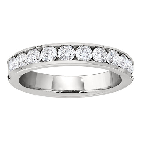 One Carat Channel Set Diamond Band with Ten Diamonds