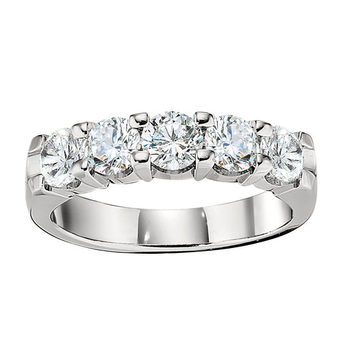 Five Stone Common Prong Wedding Band (1.50CTTW)