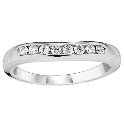 curved wedding bands, curved wedding ring