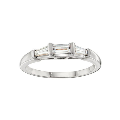 Triple Baguette Wedding Band