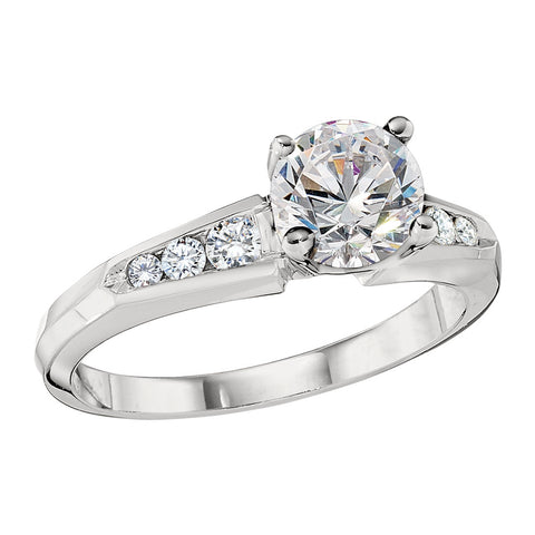 channel engagement rings, classic engagement rings, traditional engagement rings