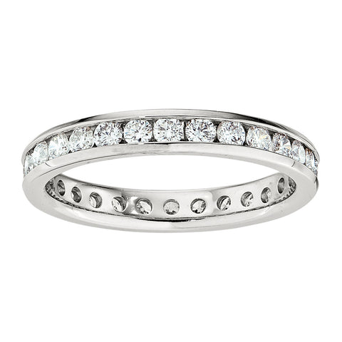 Eternity Diamond Bands with Channel Setting (.033CT Diamonds)