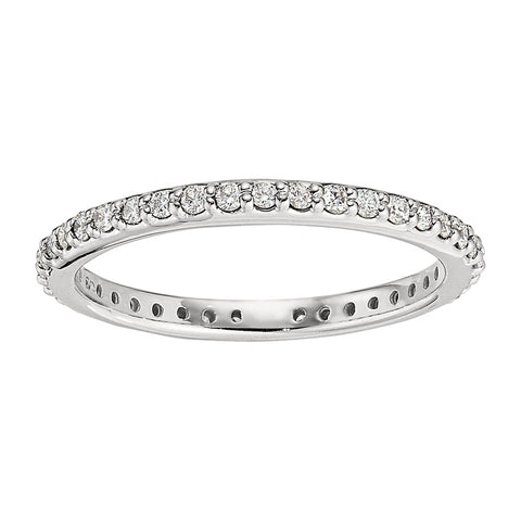 Diamond Eternity Bands, layering rings