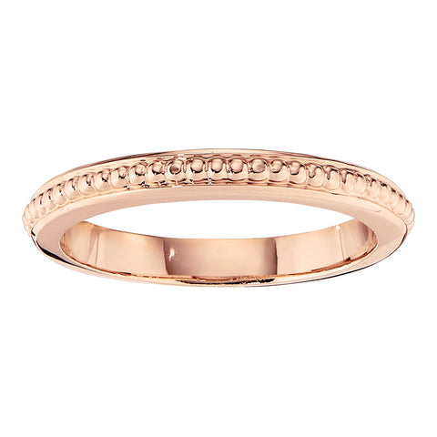 stackable gold bands, simple gold bands with a pattern, jabel wedding bands