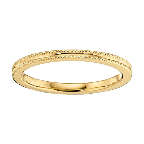 modern gold wedding band, unique gold wedding band, concave wedding band, millgrain wedding bands