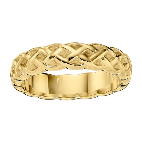 gold eternity band, celtic wedding band, irish wedding band, celtic weave wedding band