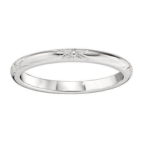 2mm Stamped Eternal Floral Wedding Band