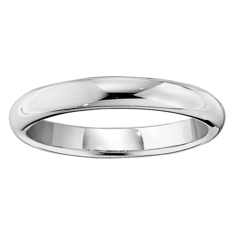 2mm Medium Domed Solid Gold Wedding Band