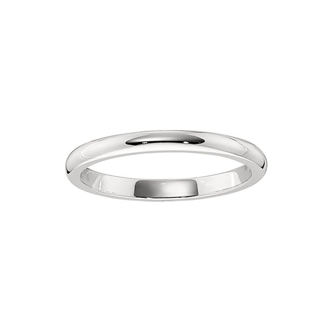 1.8 MM Wedding Band in 18K White Gold