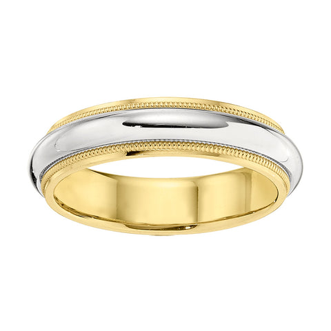 Two Tone Men's Wedding band 5.5MM Wide