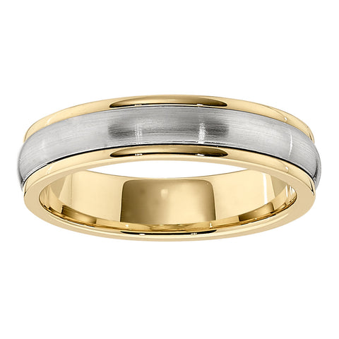 Matching Wedding Bands, Unisex Wedding Bands, two tone bands