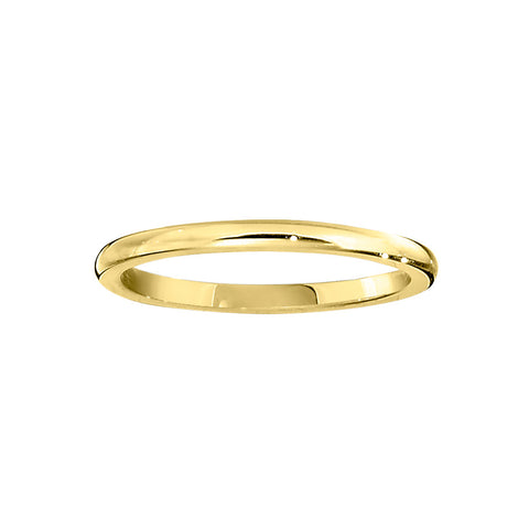 Traditional Plain Gold Band with Comfort Fit - 1.5MM Wide