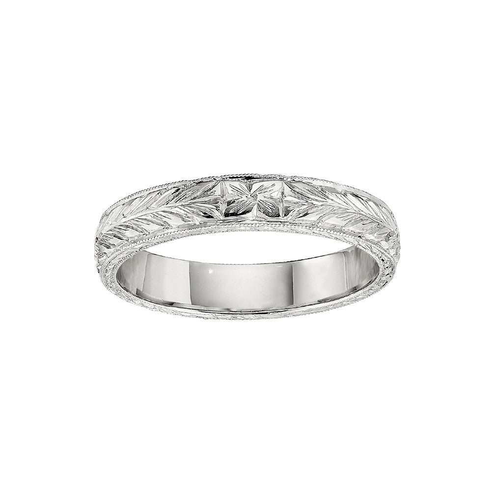 4c3e440b8eb47 Vintage Style Eternity Band with Hand Engraving