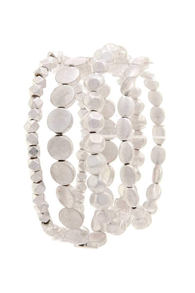 Yushikas Boutique 4 Layers Chic Beaded Bracelet