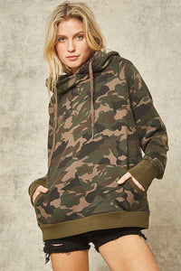 Yushikas Boutique A Camouflage Hoodie