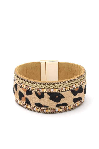 Yushikas Boutique Animal Print Magnetic Bracelet