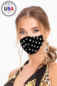 Yushikas Boutique Black/White Made In Usa Fashionable 3d Reusable Face Mask