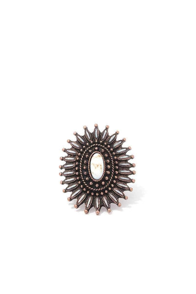Yushikas Boutique Circle Metal Cuff Ring