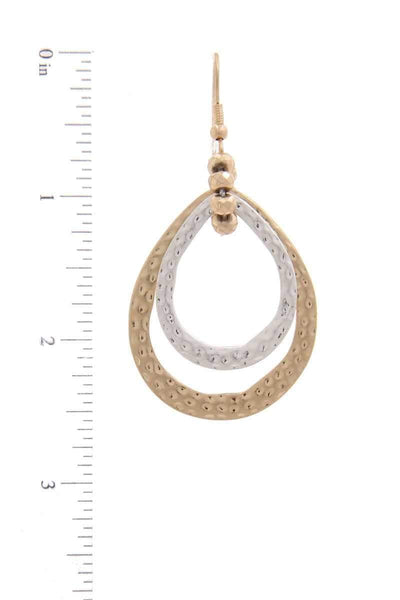 Yushikas Boutique Double Teardrop Shape Earring