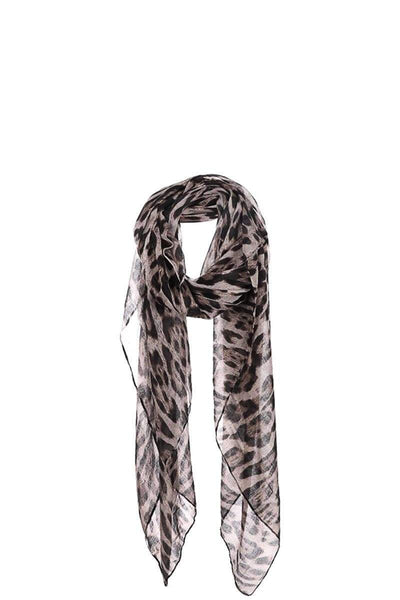 Yushikas Boutique Fashion Leopard Chiffon Scarf