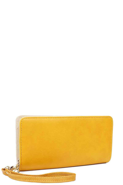 Yushikas Boutique Fashion Solid Color Long Wallet