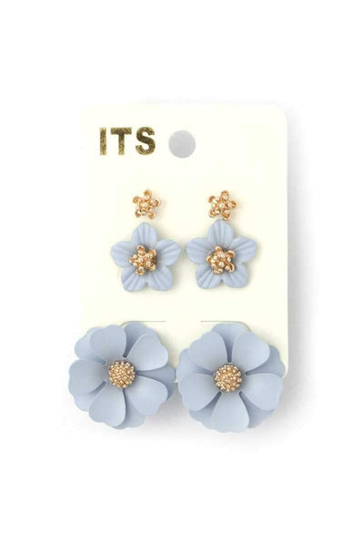 Yushikas Boutique Flower Stud Earring Set