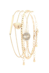 Yushikas Boutique Gold Metal Bracelet Set