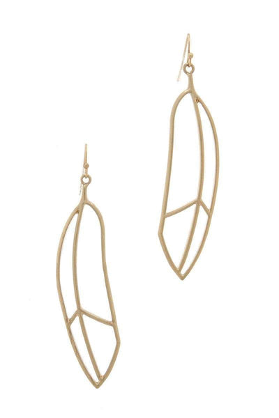 Yushikas Boutique Gold Metal Drop Earring