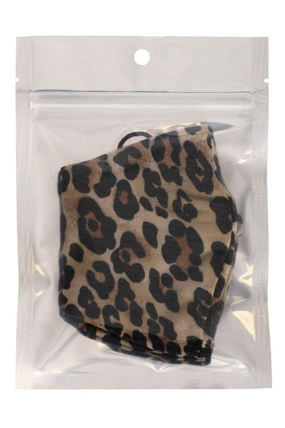 Yushikas Boutique Leopard Made In Usa Fashionable 3d Reusable Face Mask