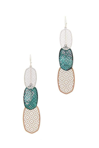 Yushikas Boutique Metal Drop Earring