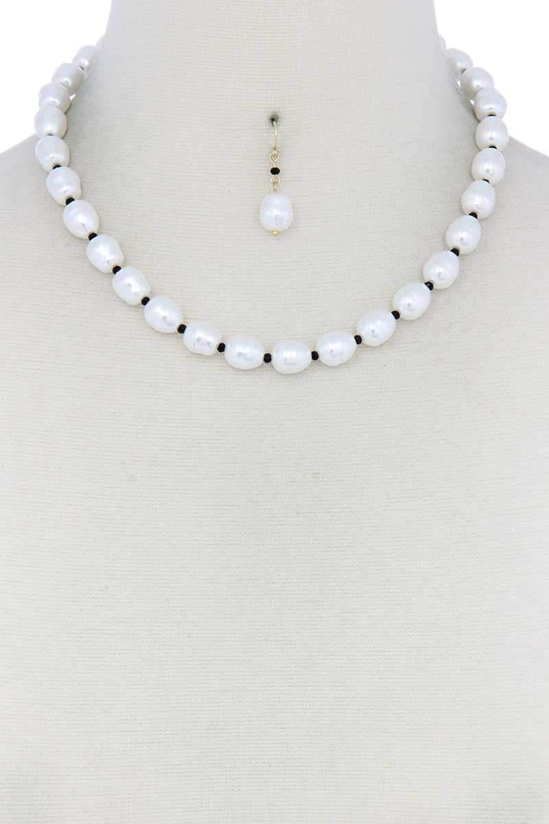 Yushikas Boutique Pearl Bead Necklace