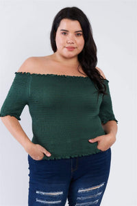 Yushikas Boutique Plus Size Off The Shoulder Top