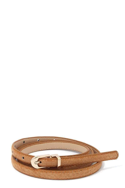 Yushikas Boutique Pu Leather Belt