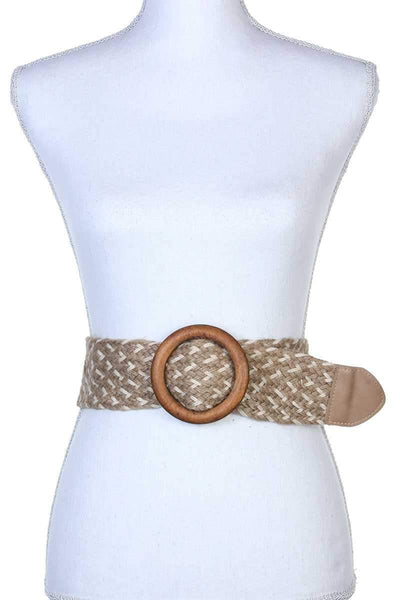 Yushikas Boutique Round Buckle Pull Through Belt