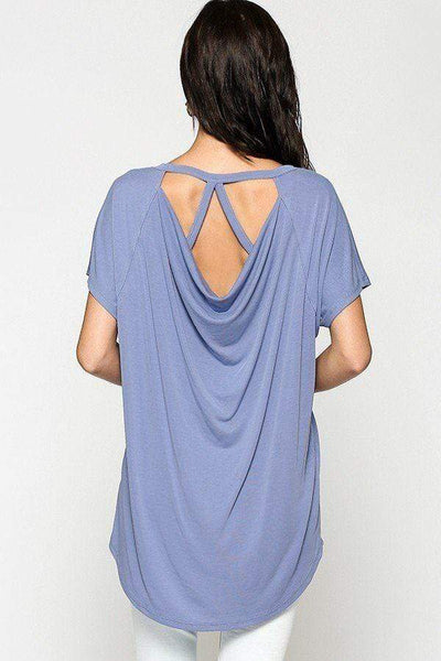 Yushikas Boutique Scoop Neckline Cupro Solid Top