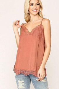 Yushikas Boutique Sleek Satin Cami Top