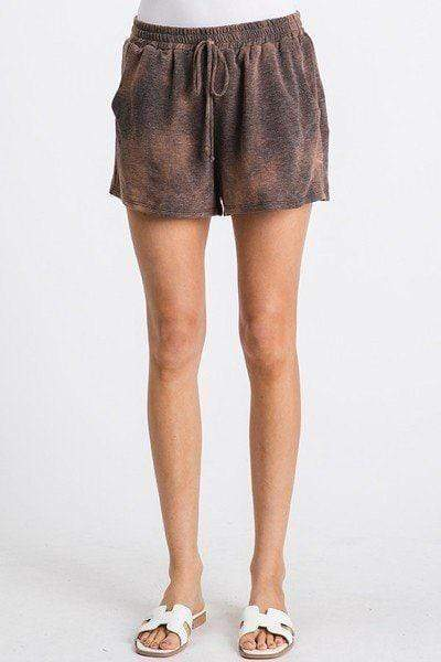 Yushikas Boutique Tie Dyed Drawstring Waist Shorts