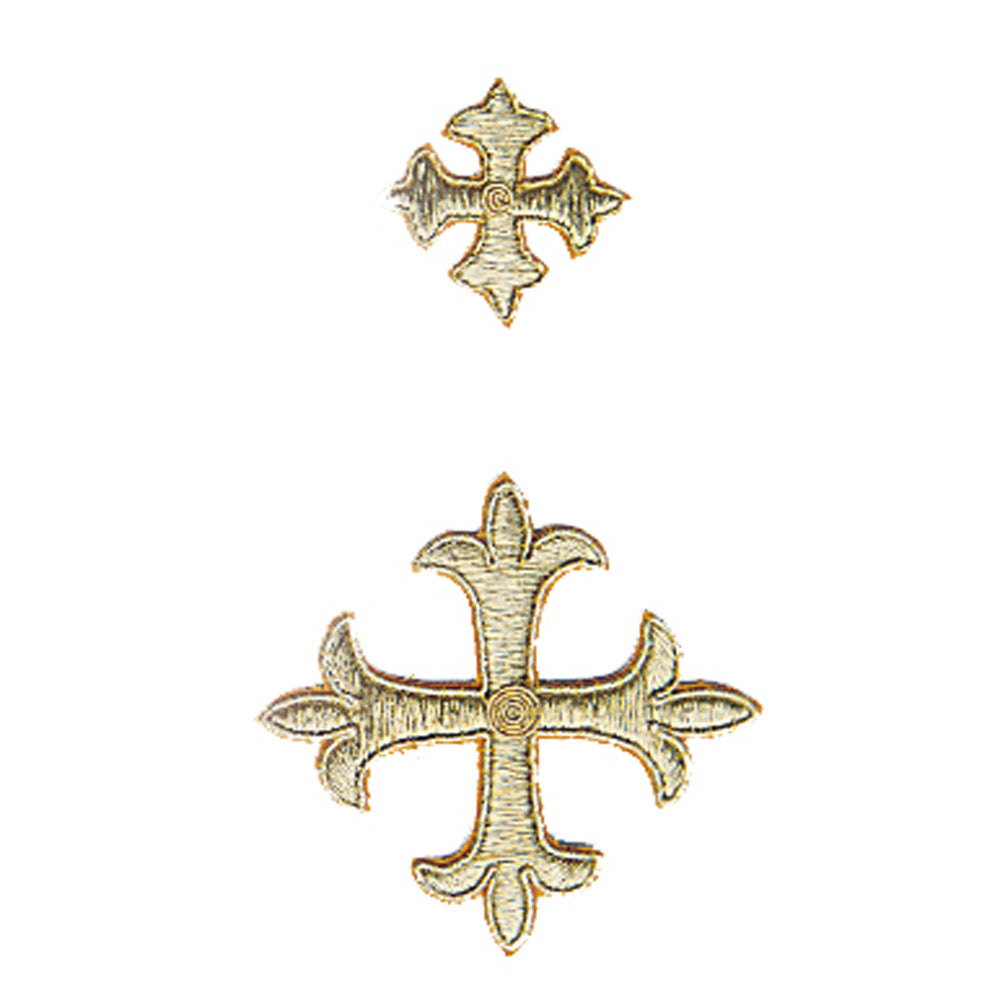 Hand Embroidered Gold Crosses