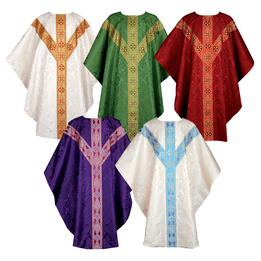 Chasubles in St. David damask