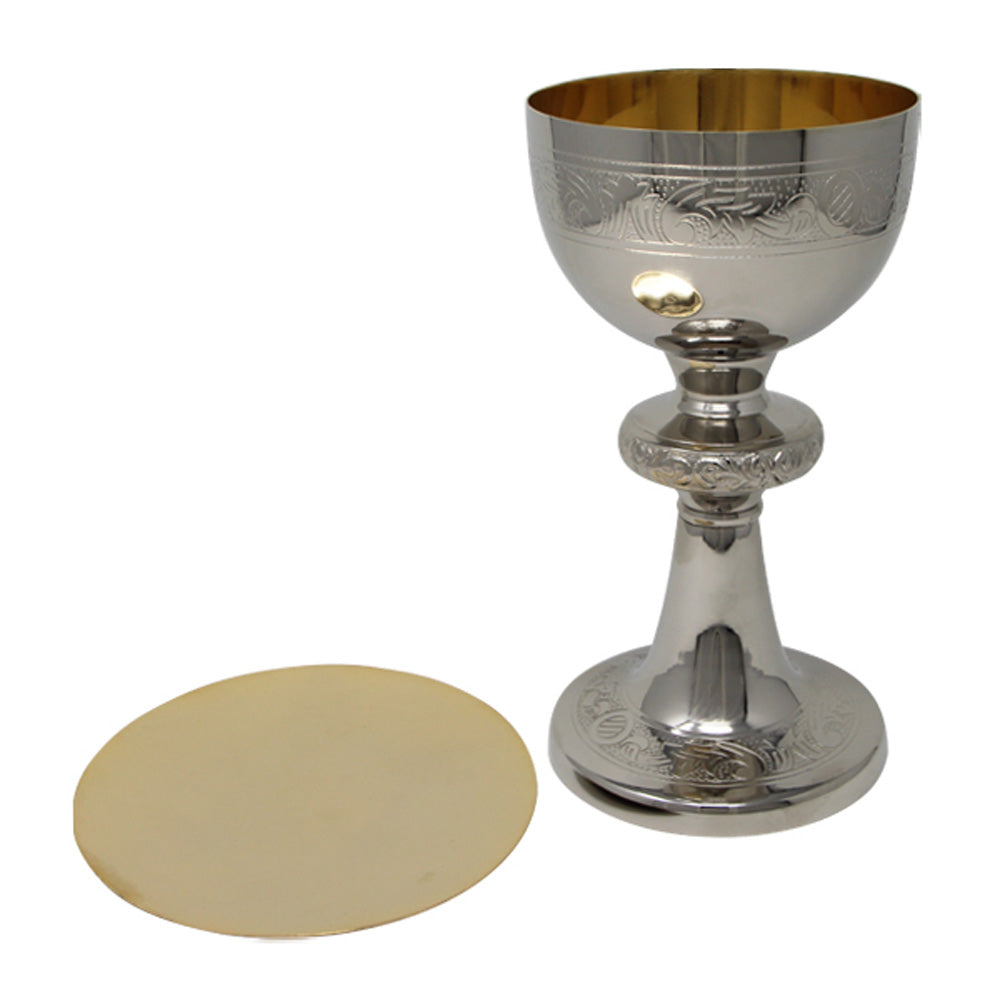 Decorative Chalice and Paten