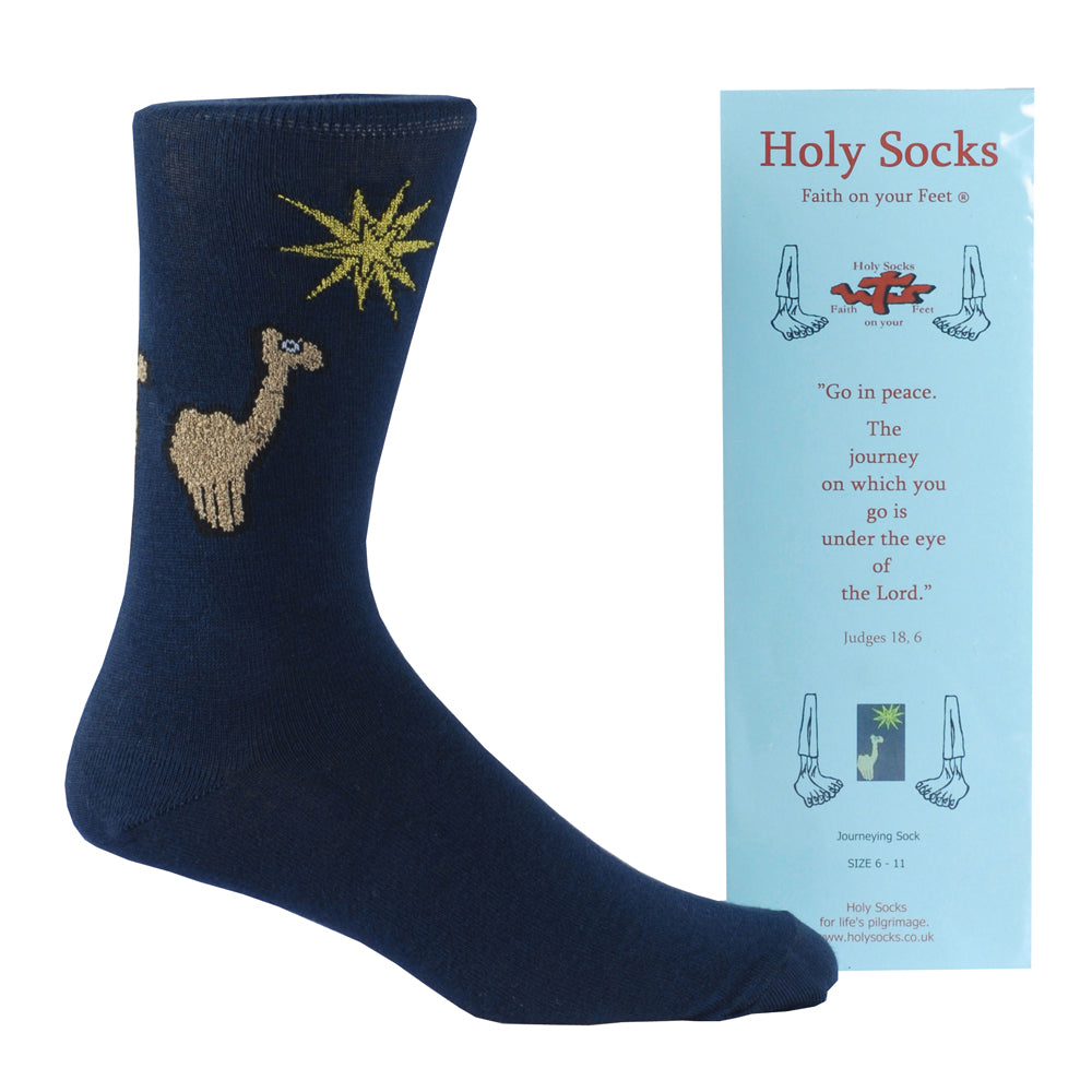 Holy Socks - Camel & Star (Blue)