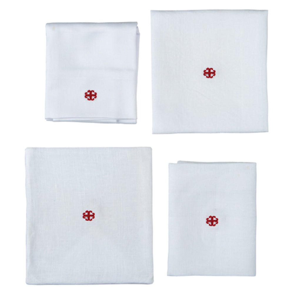 Small Linens with Red Embroidered Cross