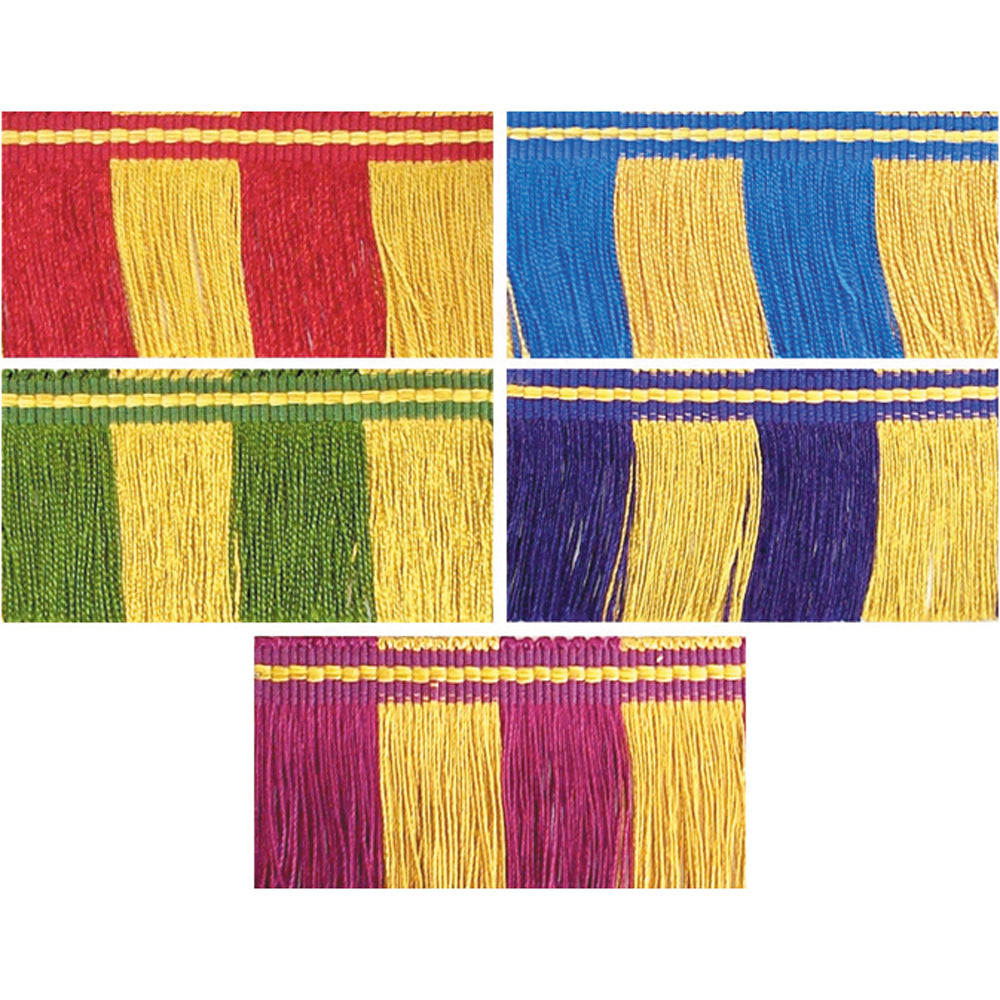 Two Colour Rayon Fringe