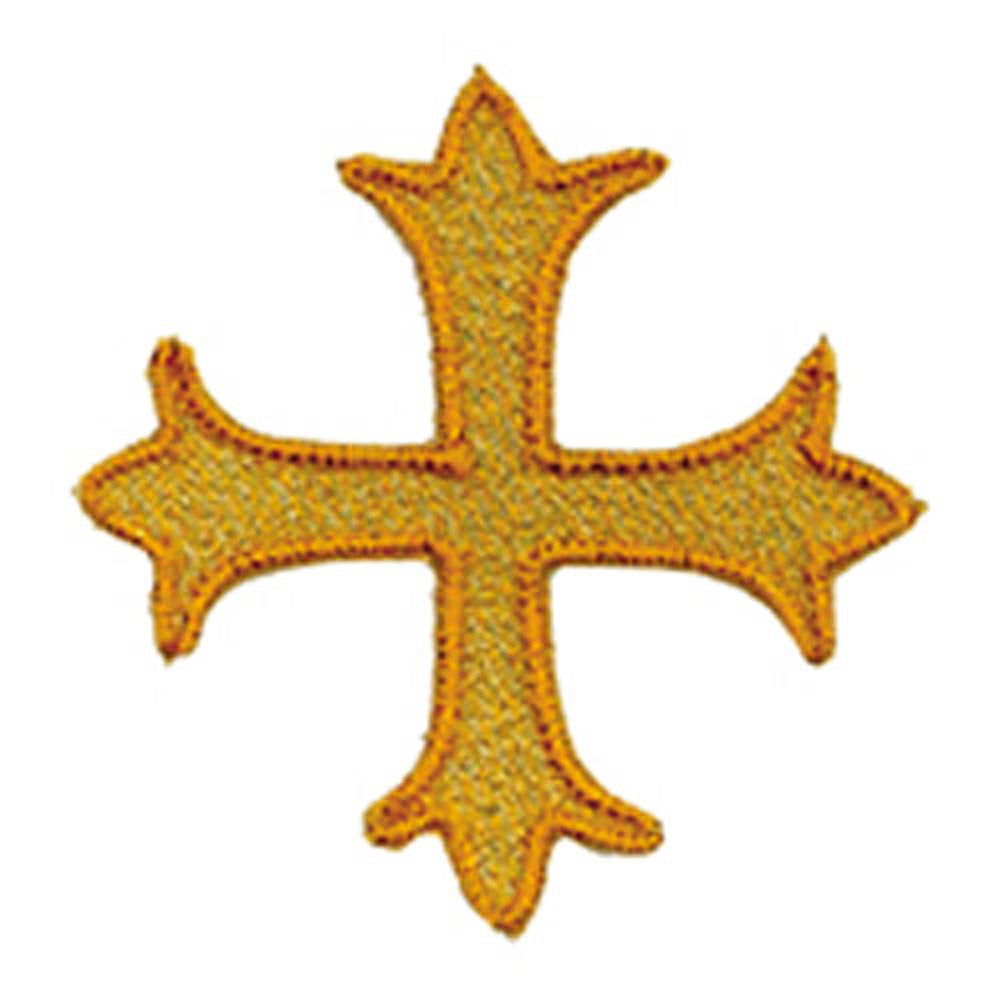 Gold Applique Cross