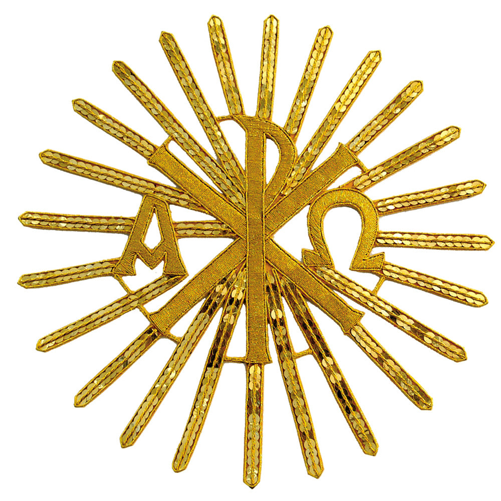 'Chi Rho' Gold Embossed Motif