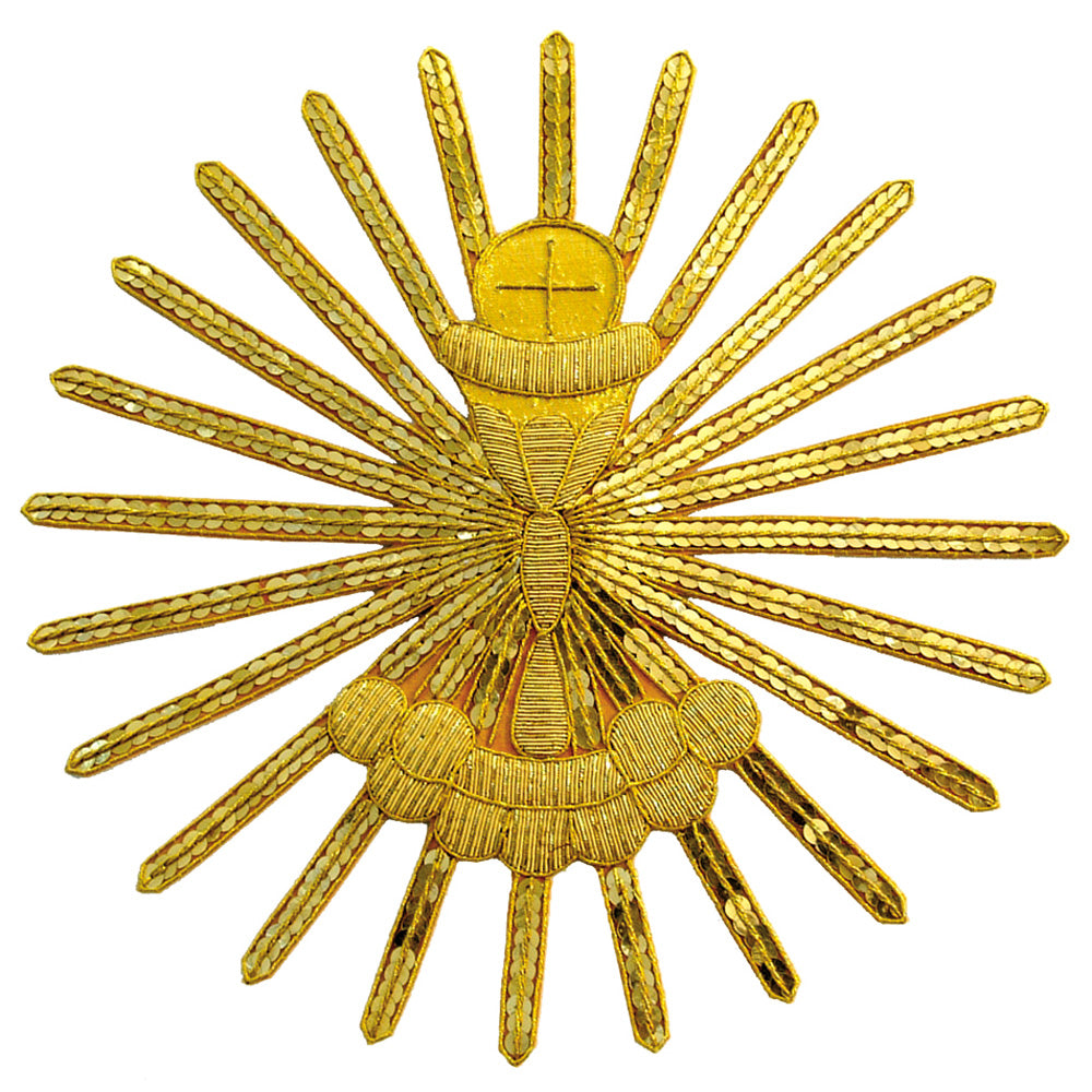 'Chalice and Host' Gold Embossed Motif