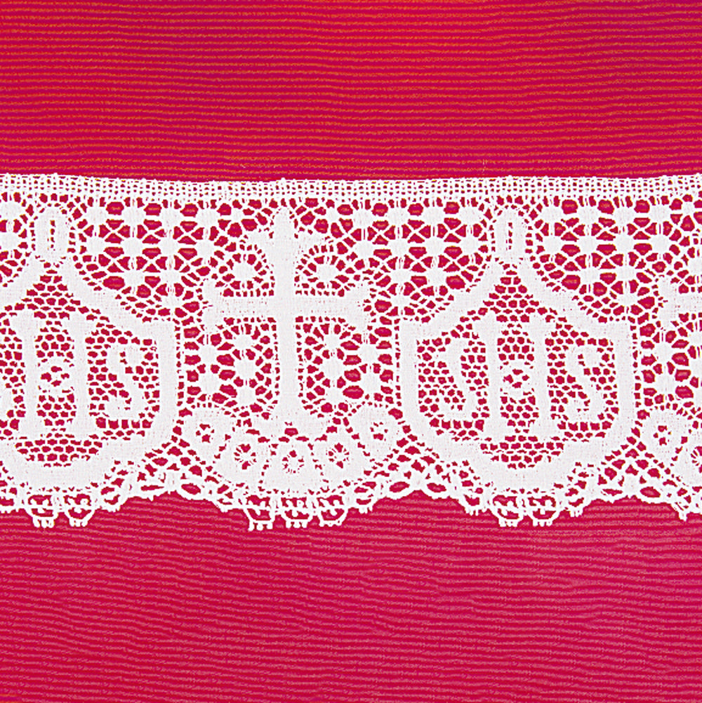 "'IHS' Cotton Lace - 4.1/4"" Deep"