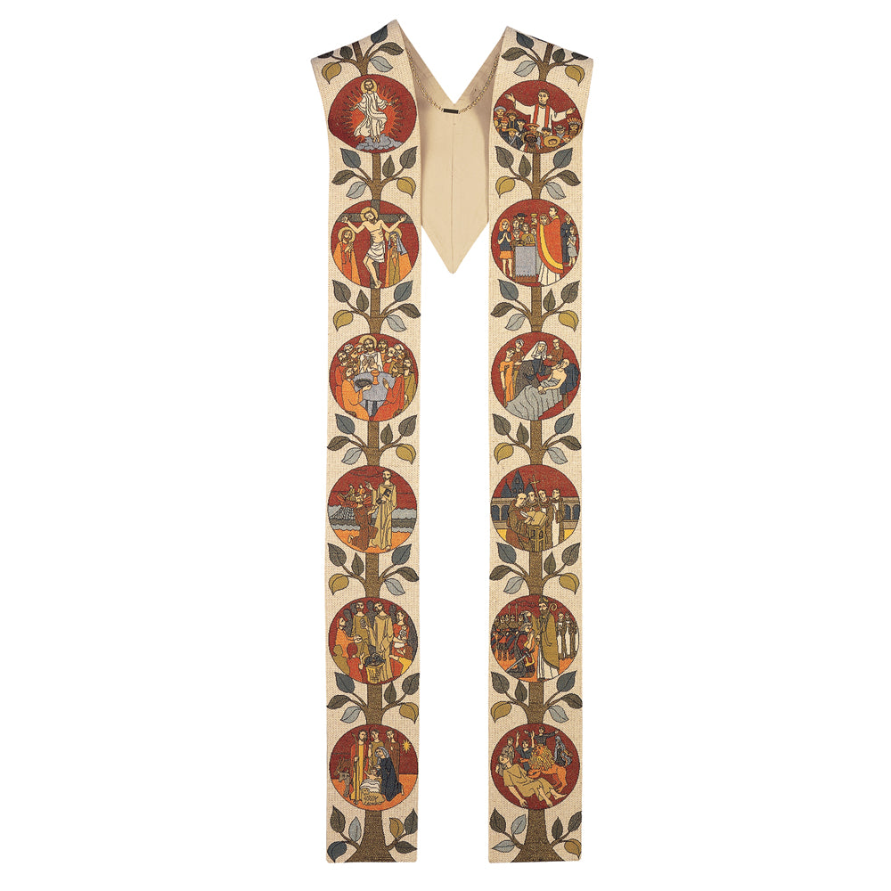 'History of the Church' Overlay Stole